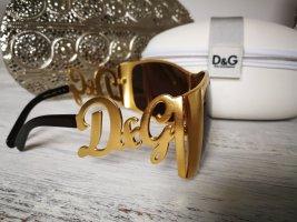 Dolce & Gabbana Lunettes de soleil ovales doré-brun