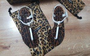 Dolce & Gabbana Sandalias con talón descubierto blanco Cuero