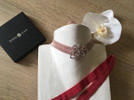 Pippa & Jean Collana dichiarazione rosa chiaro-rosso lampone