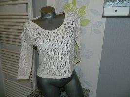 Damen 3/4 arm Netz Loch Shirt Größe XS von Only (B11)