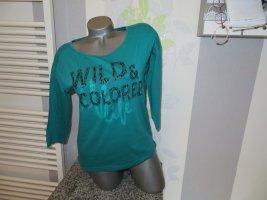 Janina Longsleeve turquoise-green cotton