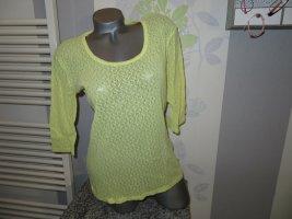 Camisa de malla amarillo pálido poliamida