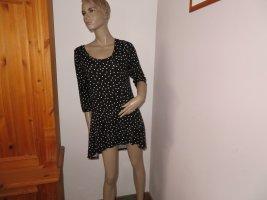 Boysen's Camicia lunga nero-bianco Viscosa