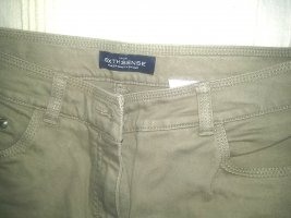 Damen 5-pocket-Jeans - beige/schlamm - Gr.40 K(Kurzgrösse)- Baumwolle/Elasthane