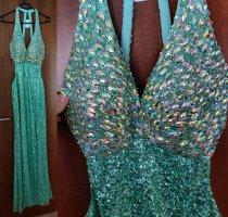 Damen Abendkleid Ballkleid Kleid NP 119,90 Pailletten Strass Perlen