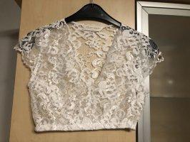 Alpenherz Folkloristische blouse wit
