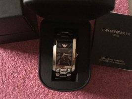 Emporio Armani Watch With Metal Strap light grey-silver-colored metal