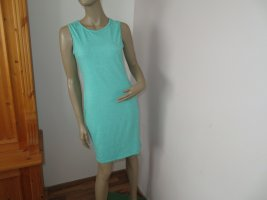 Robe t-shirt turquoise-vert menthe polyester