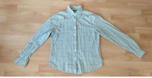 Benetton Geruite blouse wit Katoen