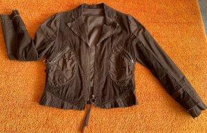Damen Blazer Cord Jacke Rüschen Gr.40 in Braun von P.U.C.C.