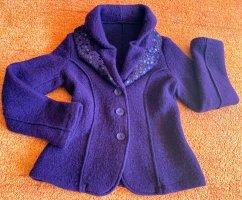 Wool Blazer dark violet wool
