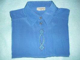 Damen Bluse , Gr : 42 , Farbe : Blau , Marke : Sommermann