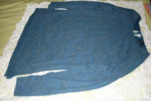 Yessica Blusa de manga larga azul acero Poliéster