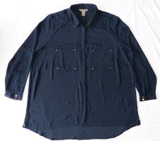 Damen Bluse Oberteil von H&M Gr. 50 / XL Shirt Tunika TOP Zustand blau langarm