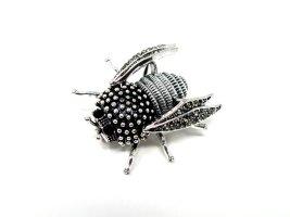 Spilla nero-argento Metallo
