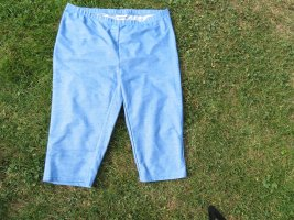 Janina Curved Pantalon capri bleu clair polyester