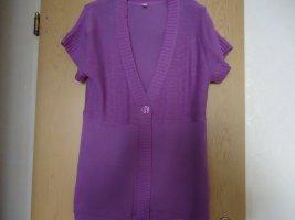 Cardigan à manches courtes violet