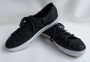 Damen Converse Chucks All Stars Gr. 37 schwarz fast neuwertig selten Sondermodell Sneakers Turnschuhe Sportschuhe