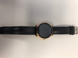 Fossil Reloj con pulsera de cuero color oro-negro