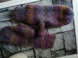 Gants en tricot multicolore