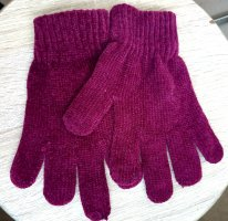 Knitted Gloves blackberry-red