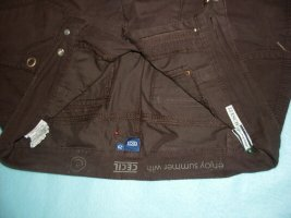 Cecil 3/4 Length Trousers dark brown cotton