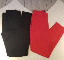 Amisu High-Waist-Shorts black-red
