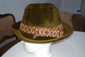 Unbekannte Marke Felt Hat bronze-colored-dark green