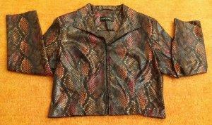 Damen Jacke Blazer Glanz Schlangenmuster Stretch Gr.42 von Nicowa NW