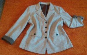Blazer in lana beige chiaro Lana