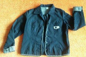 M&S Blazer en jean bleu foncé coton