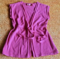Knitted Wrap Cardigan violet