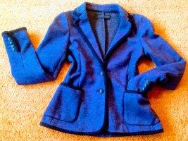 Zara Woman Blazer in lana nero-blu