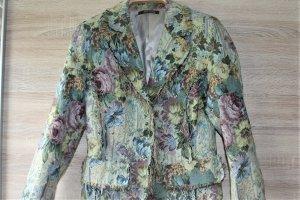 Damen Jacke, Taillierter Blazer Blumenmuster gr.M