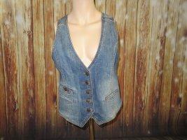 H&M Denim Vest blue cotton
