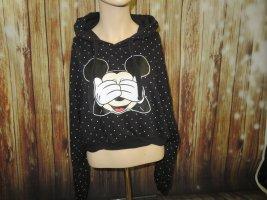 Disney Felpa con cappuccio nero Cotone