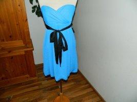 Zara Woman Sukienka z rękawem balonowym niebieski Poliester