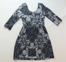 Damen Kleid Colloseum Gr. S / 36 / 38 sehr guter Zustand grau schwarz