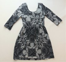 Damen Kleid Colloseum Gr. S / 36 / 38 sehr guter Zustand grau schwarz Mädchen