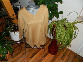 Cashmasoft Short Sleeve Sweater beige polyacrylic
