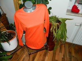 AproductZ Koszulka z długim rękawem pomarańczowy Bawełna