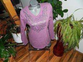 Adler Koszulka z długim rękawem szaro-liliowy-bladofiołkowy Bawełna