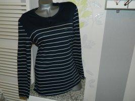 Schiesser Longsleeve dark blue-white cotton