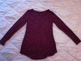 Basic Camicia lunga viola