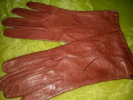 Leather Gloves bordeaux leather