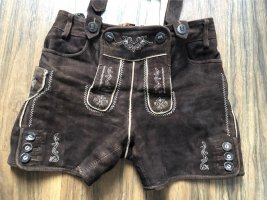 Tradycyjne skórzane spodnie ciemnobrązowy