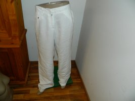 Tommy Hilfiger Pantalon en lin blanc cassé lin
