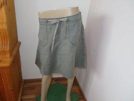 H&M Lniana spódnica szary-khaki Len