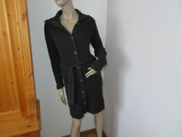 H&M Knitted Coat black cotton
