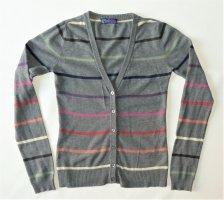 AJC Veste en tricot gris coton